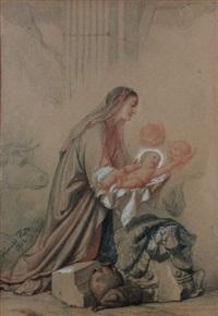 la vierge tenant l'enfant by alexandre-jean-baptiste hesse