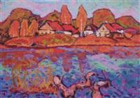 houses by the river by yuri sergeyevich kolosovski