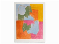 composition in red, green, blue (...) by serge poliakoff