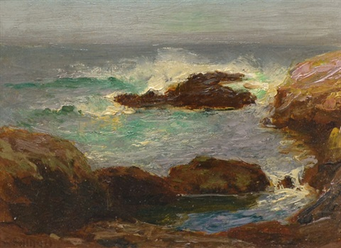 rocky coastal scene by edward henry potthast