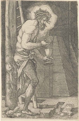 the man of sorrows at the foot of the cross by hans sebald beham