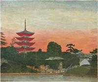 la pagode (pagode de nara) by andré bauchant