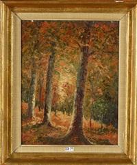 sous-bois en automne by alfred théodore joseph bastien