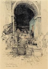 bazar in lowslau (loslau) by luigi kasimir