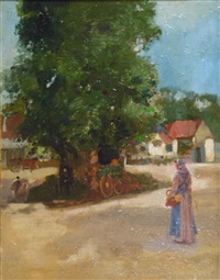 the village square by john lochhead