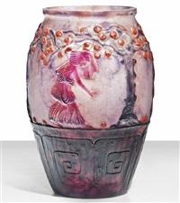 le jardin des hespérides vase by gabriel argy-rousseau