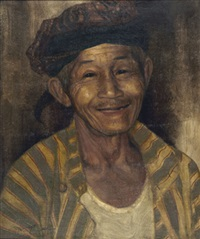 portrait of a happy old man by dullah