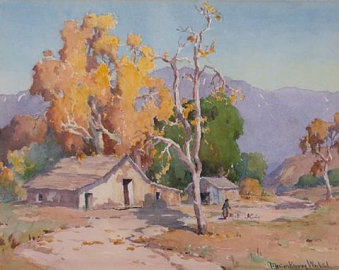 old adobe farmyard by marion kavanaugh wachtel