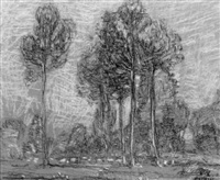 poplars, france by walter griffin