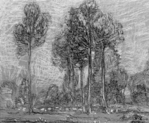 poplars france by walter griffin