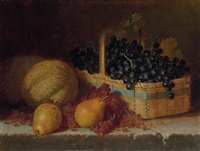 grapes in a basket by frederick s. batcheller