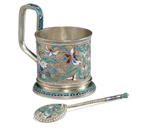 tea holder and spoon by vasily agafonov