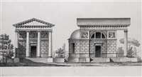 design for tutolmin's church and possibly the residence of von grote *2 works( by giacomo quarenghi