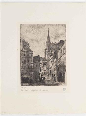 la rue malpalue à rouen by camille pissarro