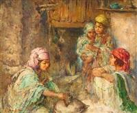 famille dans son intérieur by edouard verschaffelt