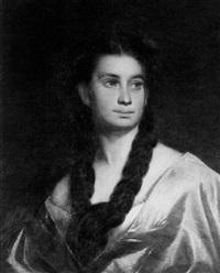 portrait einer jungen dame by joseph mathäus aigner