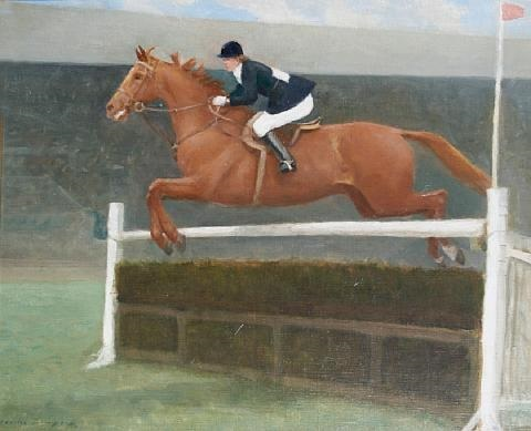 pat smythe on her famous horse prince hal by charles walter simpson