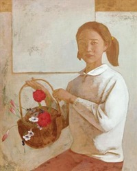 持花少女 (girl with flower) by liu renjie