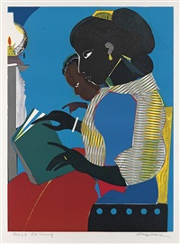 the lamp by romare bearden