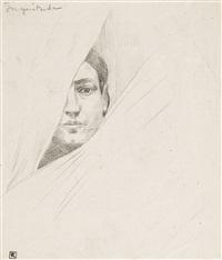 inquiétude (visage d'un homme) by armand rassenfosse