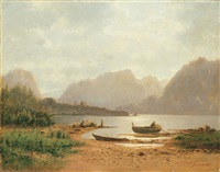 alpensee by carl gustav rodde
