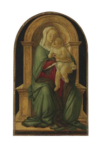 the madonna and child with a pomegranate by sandro botticelli