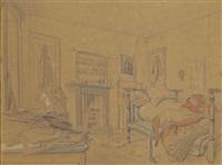 la chambre de victor hugo à marine terrace by jules (joseph augustin) laurens