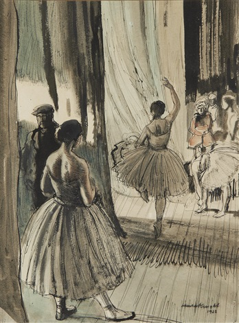behind the scenes, the ballet by dame laura knight