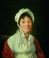 portrait de jeune femme au châle rouge by françois jean (jean françois) sablet