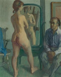 artist and model by moses soyer