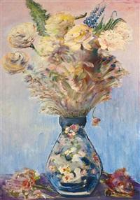 blumenstrauß in einer vase by nikolai mikhailovich rodionov