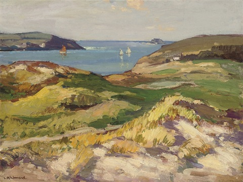 st enodoc padstow cornwall by leonard richmond