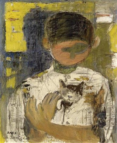 cat and child by kaoru yamaguchi