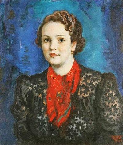 a portrait of a young lady by frantisek naske