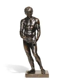 athlete holding a vase (after the antique) by massimiliano (benzi) soldani