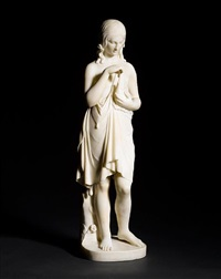 statue of a classical maiden by benjamin edward spence