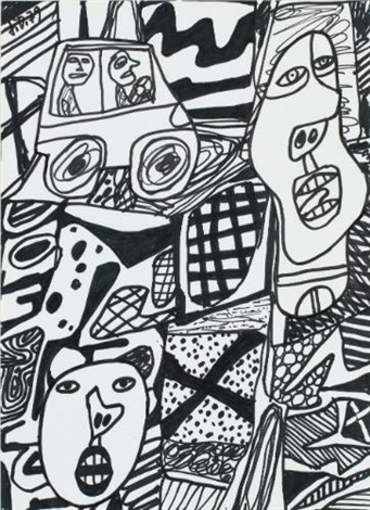 situation lxxxvi à lauto by jean dubuffet