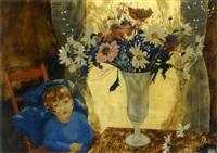 fillette au vase de fleurs by alix aymé