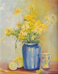 dasies with lemon and mug by pauline merry