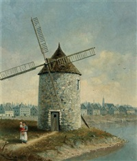 windmill point and montreal river front by henry richard sharland bunnett