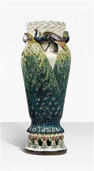 monumental peacock vase by anna boberg