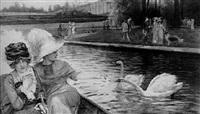 la promenade en barque dans les bassins du château de versailles by simont