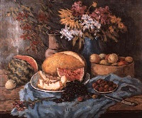 nature morte à la pastèque by nikolai maksimovich melnikov