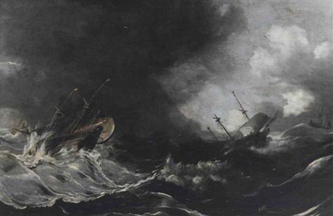 shipping in stormy waters by jan peeters the elder