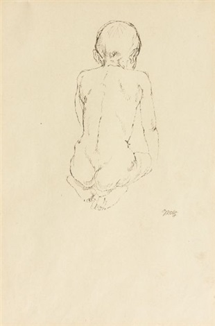 nu denfant assis de dos by george grosz