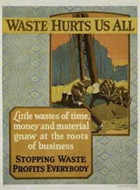 waste hurts us all by posters: propaganda