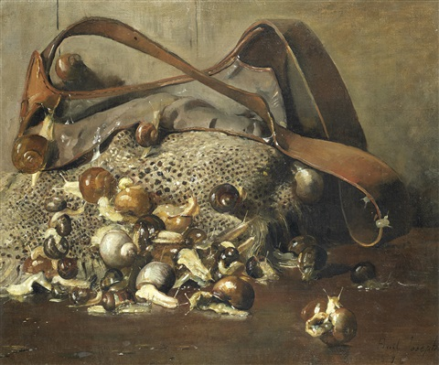 escargots still life by joseph bail