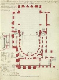 plan du théâtre de versailles by ange-jacques gabriel