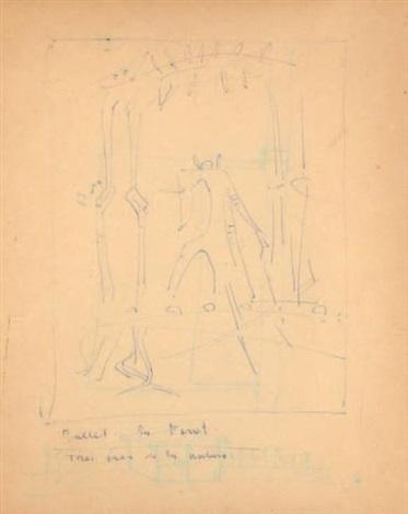projet de décor pour un ballet by wifredo lam