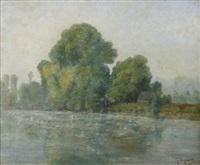 maison au bord du lac by georgette agutte